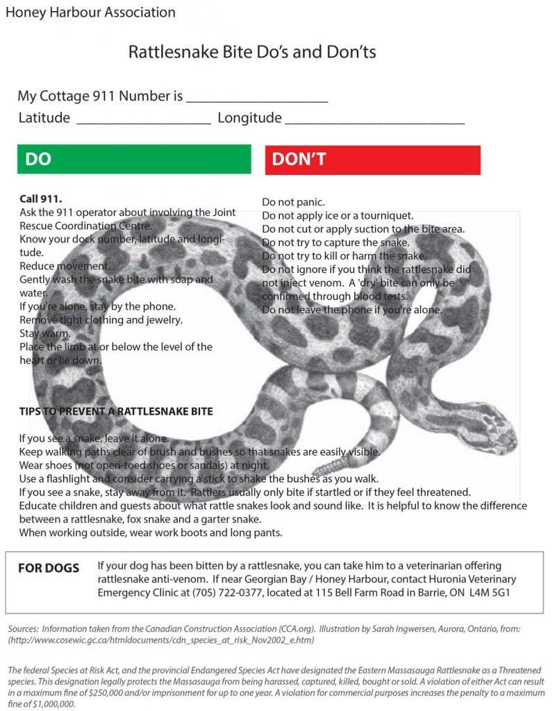 HHA Rattlesnake Preparedness guide