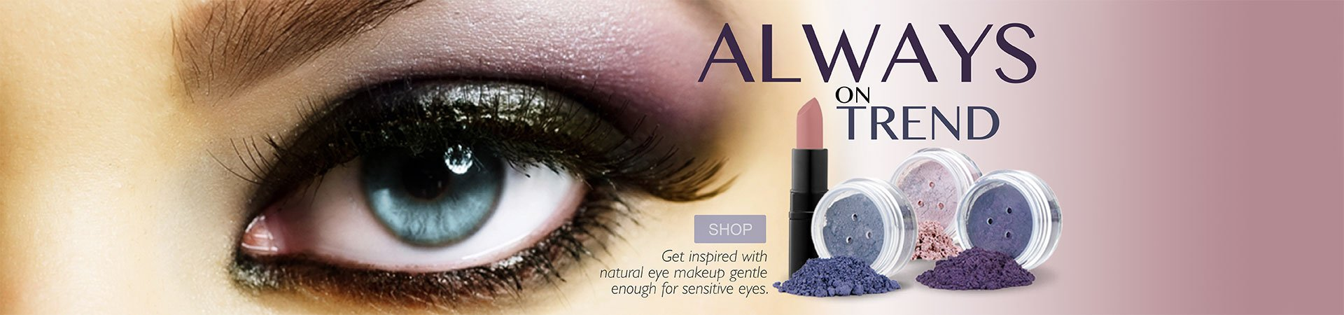 Always on Trend mineral makeup homepage promotion