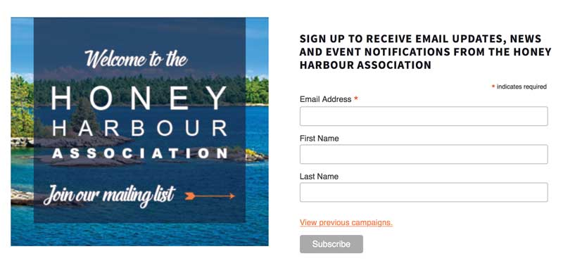 HHA email signup promo