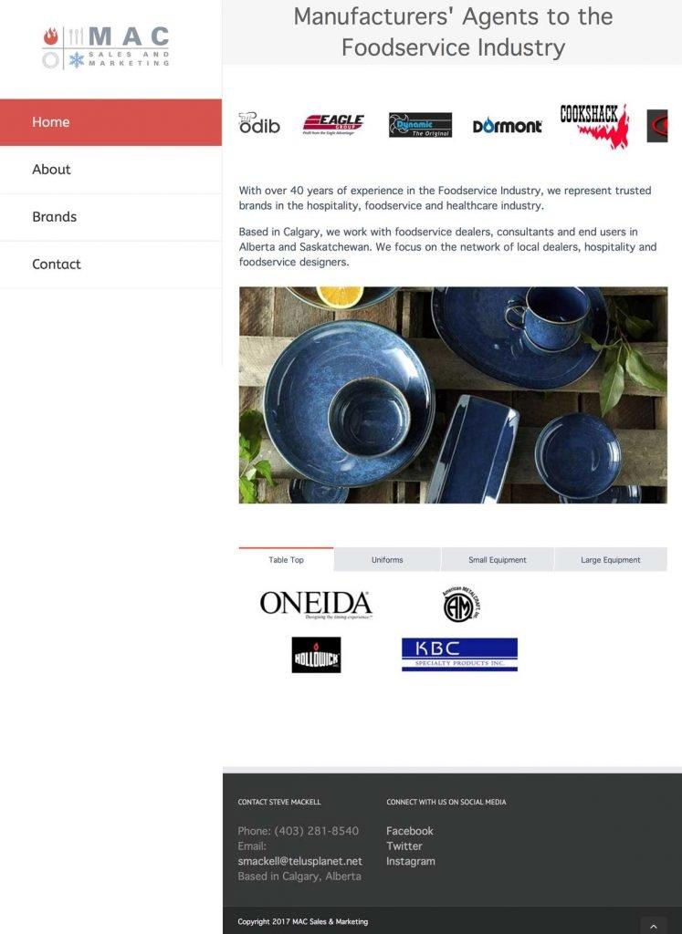 Mac Sales and Marketing homepage